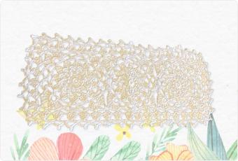手編みのレース