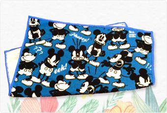 ミッキーマウスのフェイスタオル
